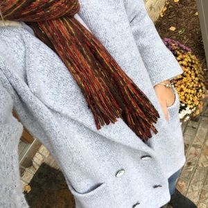 Grey Pea Coat Sweater